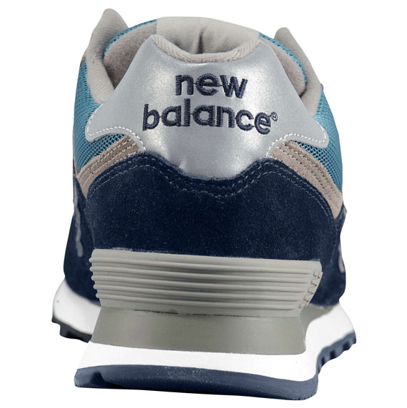 new balance 574 navy silver white