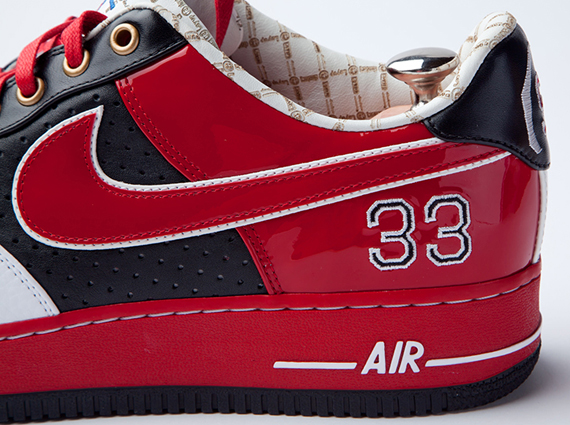 a3f0c2b9465 chic Nike Air Force 1 Bespoke quotScottie Pippenquot by Layupshot ...