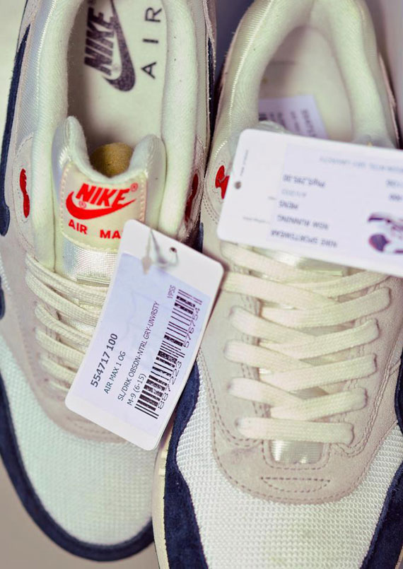 Nike Air Max 1 OG VNTG WhiteNavy Red # airmax1 #nike  #airmax1 #nike