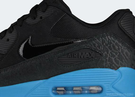 innovative design 56109 e8a40 Nike Air Max 90 – Black – Blue Glow – Elephant