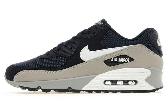 air max 90 navy blue grey white