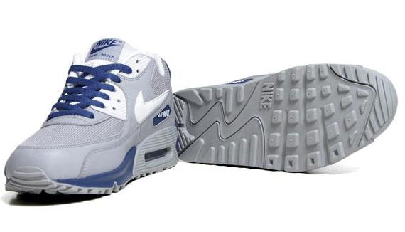 Nike Air Max 90 Essential - Wolf Grey - Dark Royal - SneakerNews.com