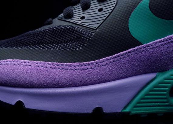 aclaramiento auténtica realmente barato Nike Air Max 90 Hyperfuse Prima De Púrpura Y Verde Azulado 100% autentico 2015 nueva línea precios de liquidación OHtKLOJw