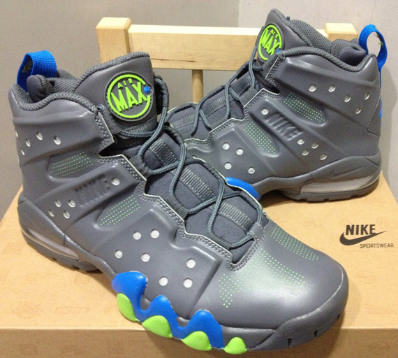 the latest 049a3 b7208 Nike Air Max Barkley - Dark Grey - Photo Blue - Action Green   New ...