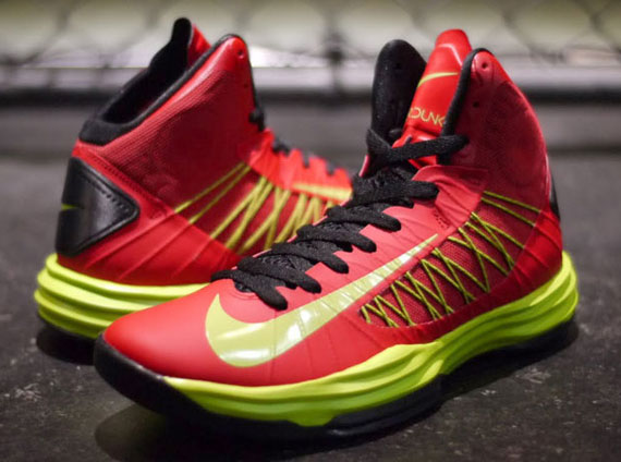 new products 14f15 be29b Nike Lunar Hyperdunk+ – University Red – Atomic Green