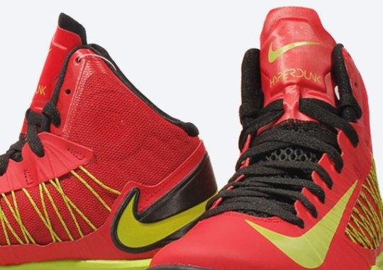 Nike Lunar Hyperdunk X – University Red – Atomic Green