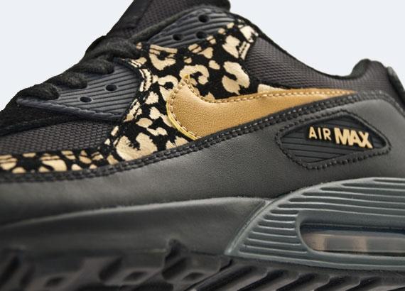 Nike Air Max 90 Wmn - Nero - Oro Metallizzato - Stampa Leopardo IdSdC5a0W
