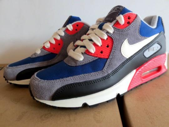 Nike Wmns Air Max 90 Dark Royal Blue Charcoal