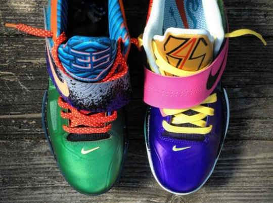 Nike Zoom KD IV 'What The KD' Customs by Mache