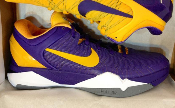 Nike Zoom Kobe Vii New Lakers Colorways Sneakernews Com
