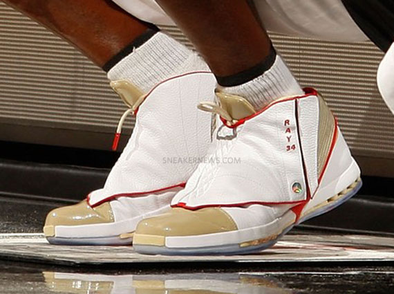 """Air Jordan XVI – Ray Allen """"Gold"""" PE – Closer Look"""