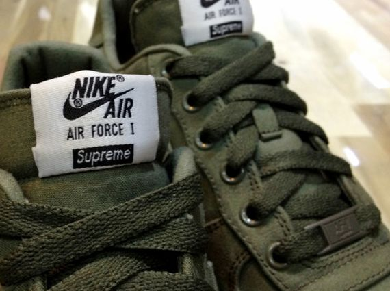 1efedcfd303c5 ... store supreme x nike air force 1 low olive sneakernews 72a1f 92ec3