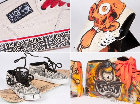 A.skate x Vans Half Cab 20th Anniversary Artist Collection ... 7080d11540bf