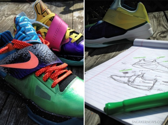 "Nike Zoom KD IV ""What The KD"" Customs by Mache on eBay"
