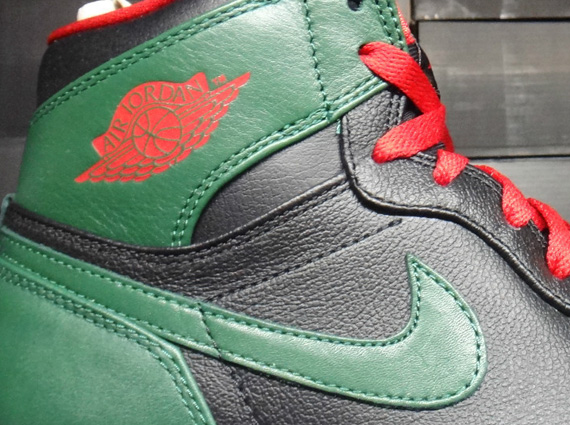 56c3c9c0541 Air Jordan 1 High – Black – Gym Red – Gorge Green | Release Reminder ...