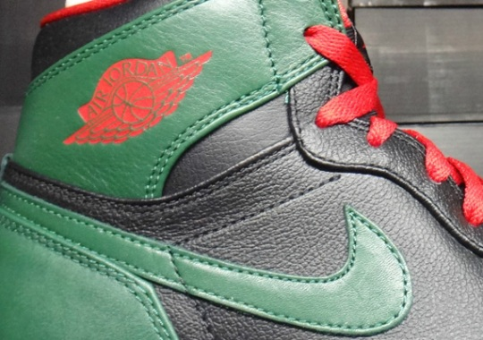 Air Jordan 1 High Black Gym Red Gorge Green