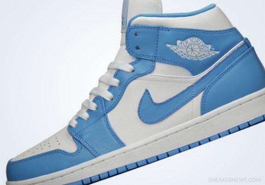 "Air Jordan 1 ""UNC"" – White – University Blue"