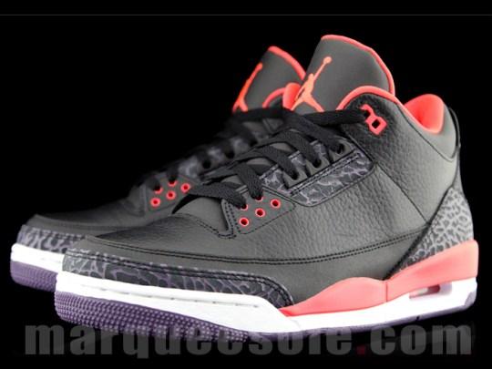 "Air Jordan 3 ""Bright Crimson"""