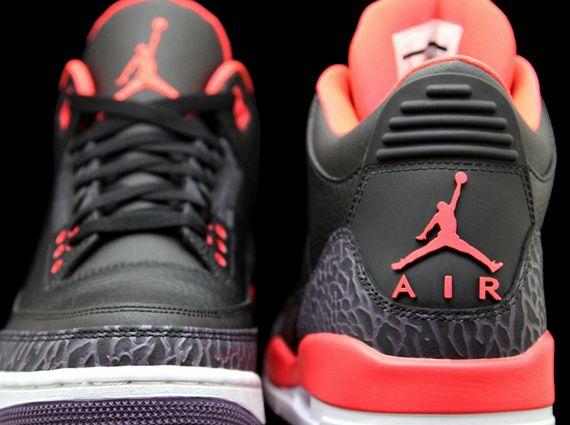 """Air Jordan 3 """"Bright Crimson"""" - SneakerNews.com"""