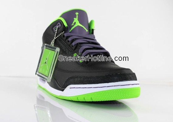 Air jordan iii retro black purple green sneakernews com