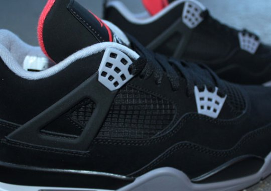 Air Jordan 4 – Black – Cement Grey – Fire Red