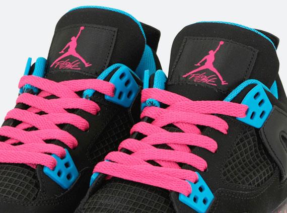 Air Jordan 4 Pink Blue
