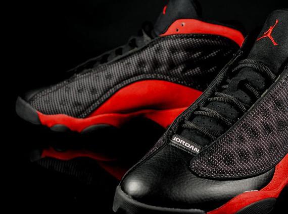finest selection c132e 05d08 black and red jordans 13