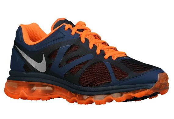 navy blue and orange nike air max