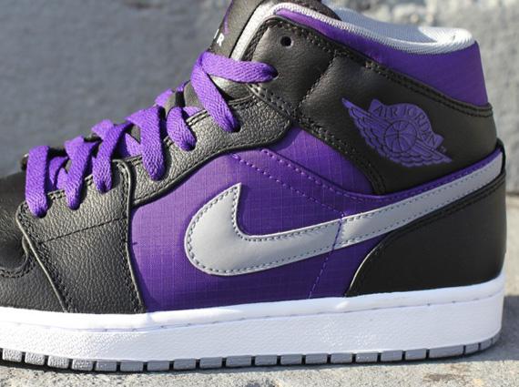 air jordan 1 phat black and purple