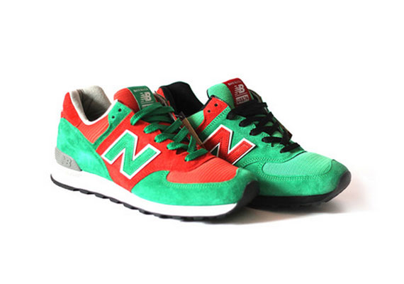 new balance 574 green red and black