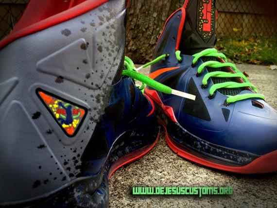 "Nike LeBron X ""Nerf"" Customs by DeJesus - SneakerNews.com"