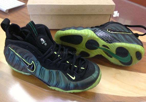 1d1e641daf0 new Nike Air Foamposite Pro quotMountain Dewquot Customs By Sole-Swap