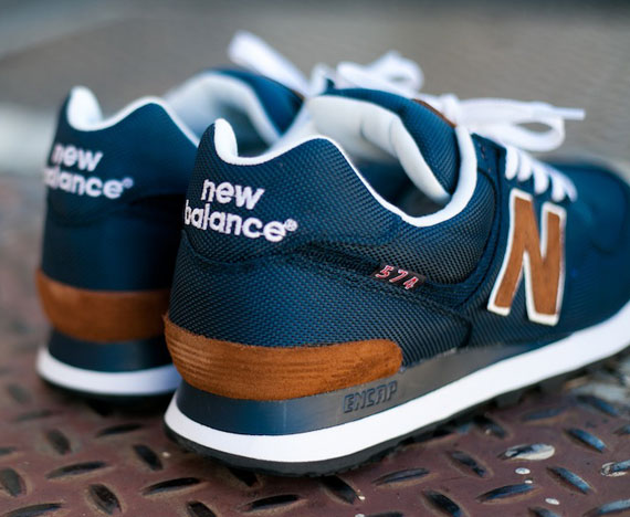 New Balance 574 Navy Blue And Brown