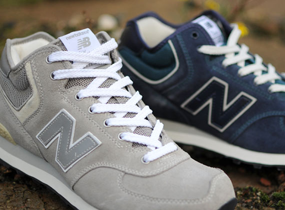 navy and grey new balance 574