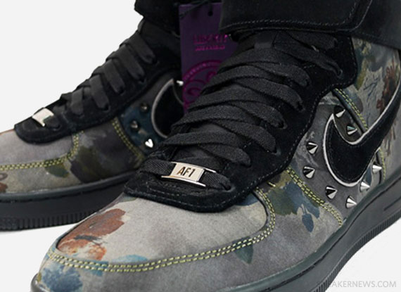 Nike Air Force 1 Downtown High Newsprint Black