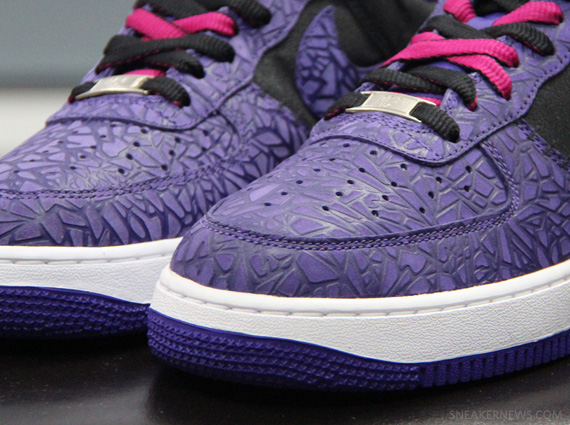separation shoes a6027 7adfb Nike Air Force 1 Low - Purple Cracked Leather Sample ...
