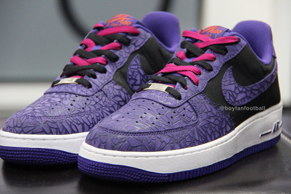 Nike Air Force 1 Low Purple Cracked Leather Size 8