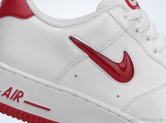 Nike Air Force 1 Low Jewel - White Patent - University Red ... 13300b0194d7