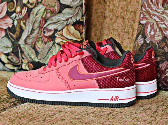 Nike Air Force 1 Low - Peach - Red Carbon Fiber - SneakerNews.com