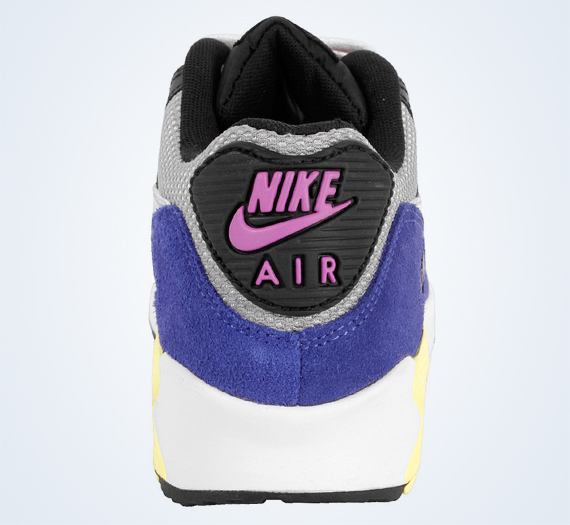 Nike Air Max 90 Medium Grey Metallic Silver Black Yellow