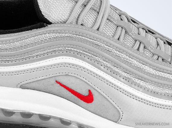Nike Air Max 97 Women's Sz 5 Black Silver Glitter At0071 002