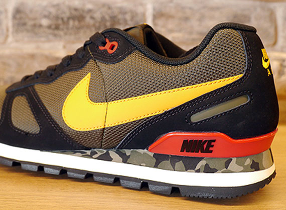 nike air waffle trainer black cargo khaki camo. Black Bedroom Furniture Sets. Home Design Ideas