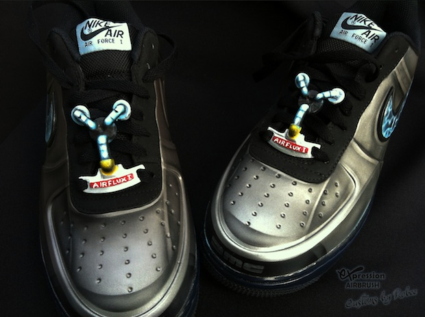 Nike Air Force 1 Low Foamposite Quot Delorean Quot Customs By