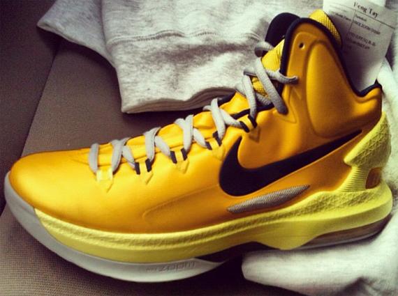 Nike Kd V Yellow Black Sneakernews Com