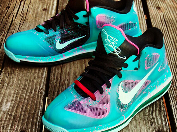 e4f089048caf 70%OFF Nike LeBron 9 Low quotEaster in South Beachquot Customs by AF1King