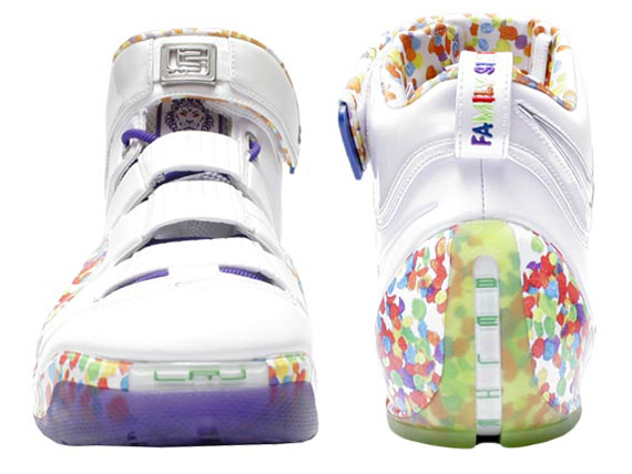 "f5d4d54f22a Nike Zoom LeBron IV ""Fruity Pebbles"" 100 Pairs 12 2006. show comments"