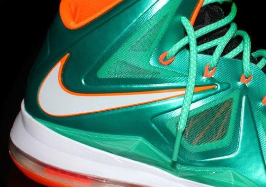 "69555d9e2b6d Nike LeBron X iD ""Miami Dolphins"" by NYStatenIsland"