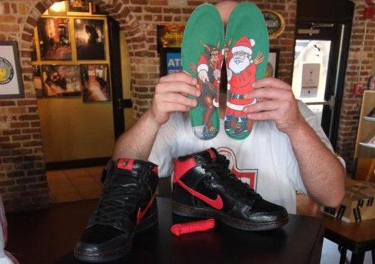 "Sean Cliver x Nike SB Dunk High ""Krampus"""