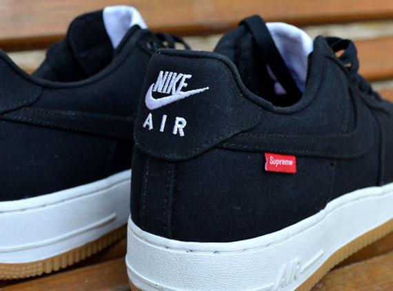 Nike Air Force 1 Faible Suprême Noir