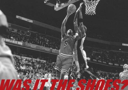 Michael Jordan Blocks Ron Mercer